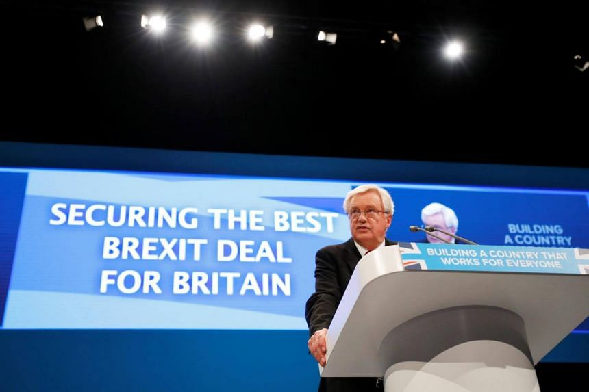 """Brexit minister David Davis told party members the government did not want to fail in the talks, but officials were""""contingency planning"""" to make sure all scenarios were covered."""