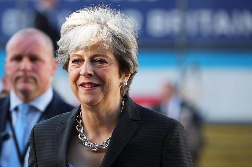 Britain's Prime Minister Theresa May at the Conservative Party's conference in Manchester, Britain, on Oct 3, 2017.