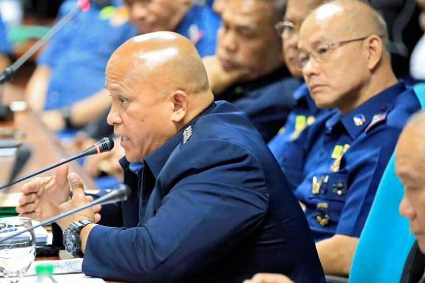 Philippine National Police (PNP) chief Ronald Bato Dela Rosa at the Senate headquarters in Pasay city, Philippines on Aug 24, 2017.