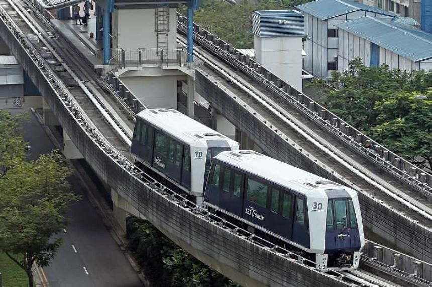 Works to install barriers for the Sengkang-Punggol LRT will be completed next year.