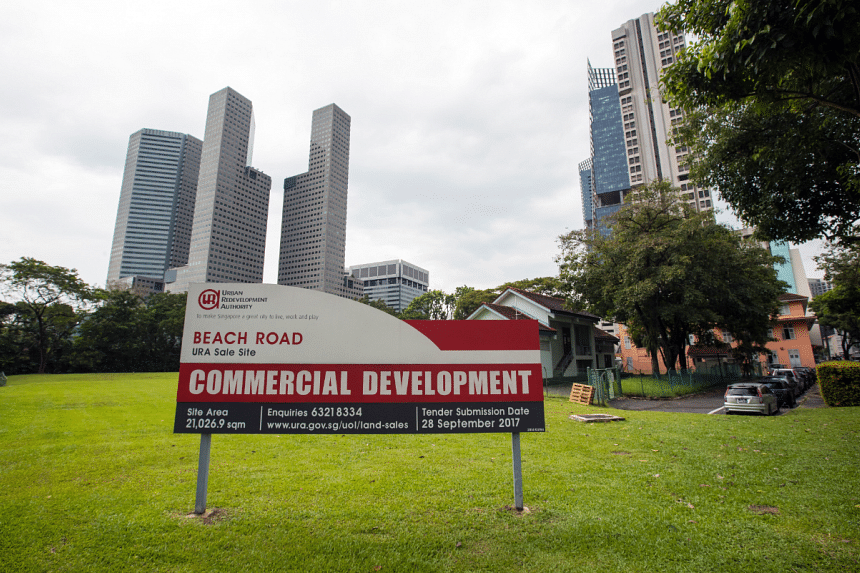 URA guidelines for the 950,593 sq ft land parcel include an allowance for up to two 45-storey towers. At least 70 per cent of the gross floor area must be office space, but the rest can be go towards retail, hotel or residential use.