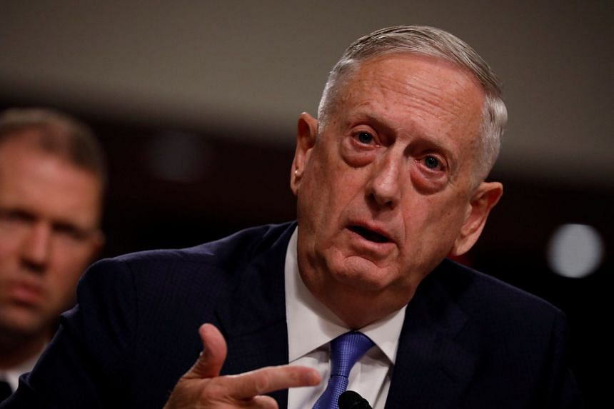 Mattis testifies before a Senate Armed Services Committee hearing, Oct 3, 2017.