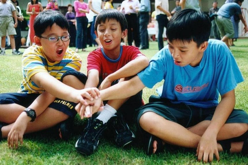 A still from I Not Stupid, starring (from left) Huang Po Ju, Shawn Lee and Joshua Ang.