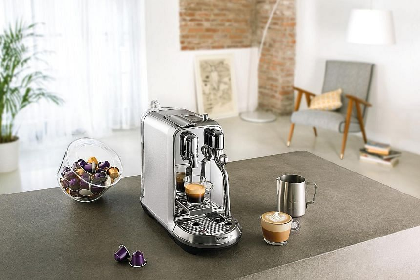 The Nespresso Creatista Plus looks like one of those expensive coffee machines that hipster cafes use, but much smaller in size.