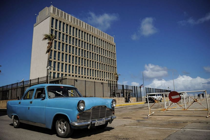 The US Embassy in Cuba. Diplomats in Cuba have been reporting symptoms, including hearing loss and cognitive issues, since December 2016.