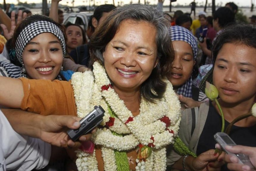 Lawmaker Mu Sochua, a member of the opposition Cambodia National Rescue Party, in a 2014 file photo.