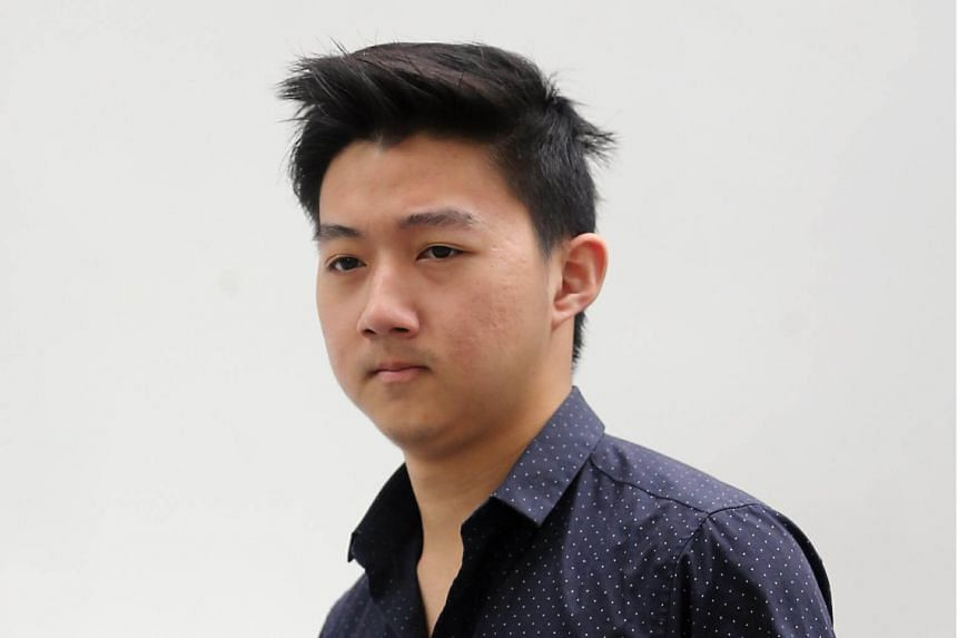 Herman Shi Ximu (pictured) pleaded guilty in court to causing grievous hurt to contractor Teong Hien Sing, 66, by performing the rash act at a surface carpark along Stadium Walk in Kallang at around 5.45pm on Aug 27, last year.
