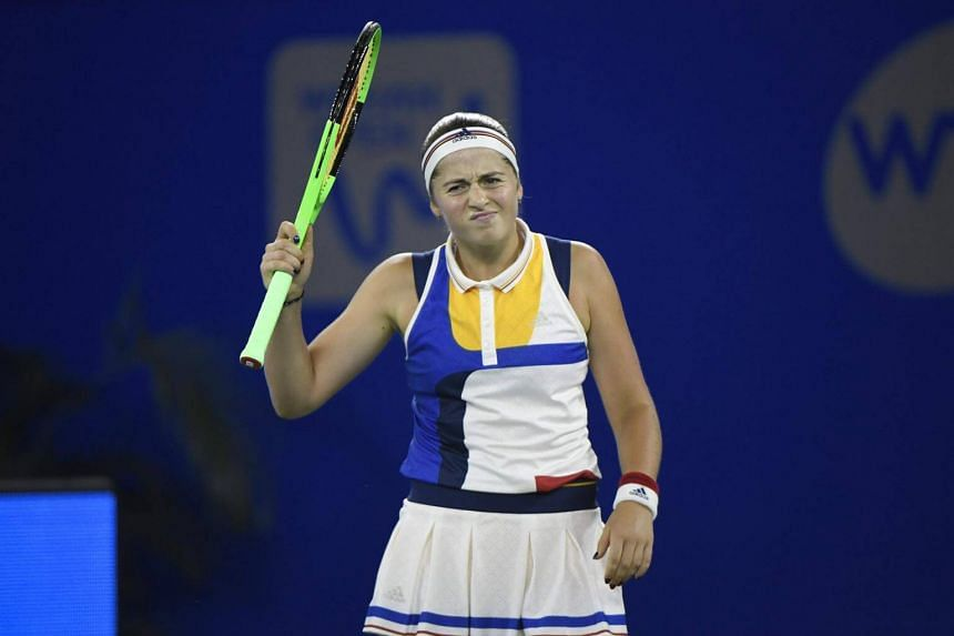 Jelena Ostapenko (above) booked her spot at the WTA Finals after Joanna Konta withdrew from the Prudential Hong Kong Tennis Open.