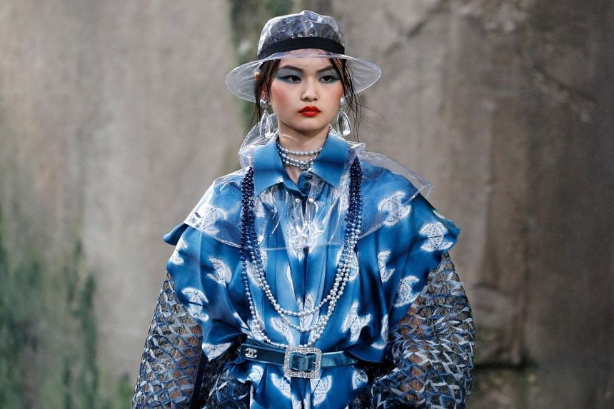 A model presents a creation for Chanel during the women's 2018 Spring/Summer ready-to-wear collection.
