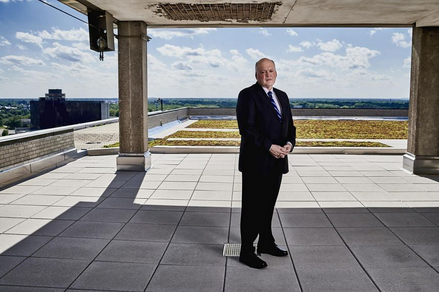 Jim Hackett, the new chief executive of Ford Motor, at the automaker's headquarters in Dearborn, Mich.