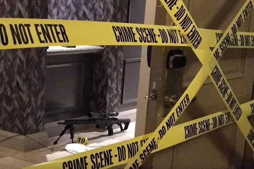 A screengrab of Stephen Paddock's hotel room.