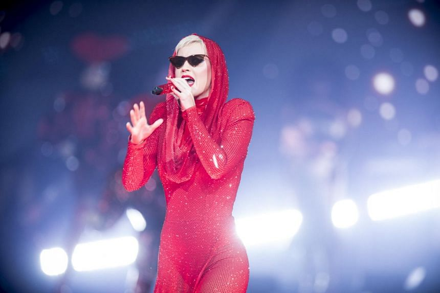 Katy Perry performs during her Witness tour at Madison Square Garden in New York.