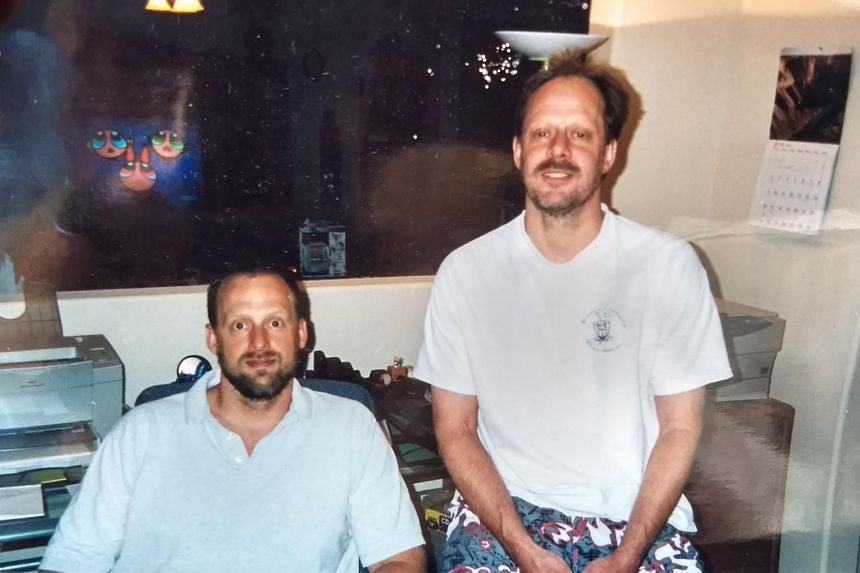 Accused Las Vegas shooter Stephen Paddock (right), is shown with his brother Eric Paddock in a 2002 family photo.