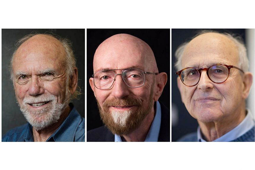 (From far left): US physicists Barry Barish, Kip Thorne and Rainer Weiss shook the world with their discovery.