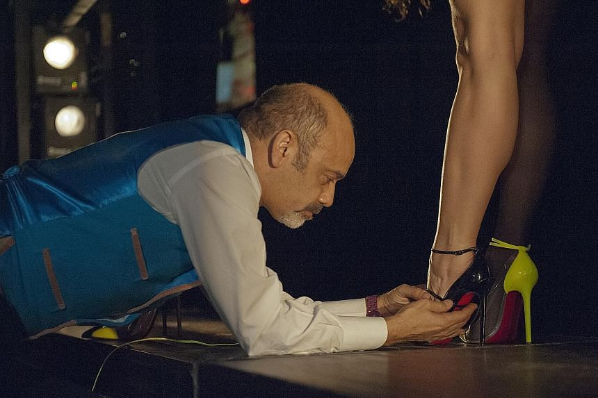Christian Louboutin shoes worn by performers of Parisian cabaret Crazy Horse. Christian Louboutin began collaborating with Crazy Horse in 2012, when he was invited to design six pairs of bespoke shoes for each of the dancers, as well as direct a show