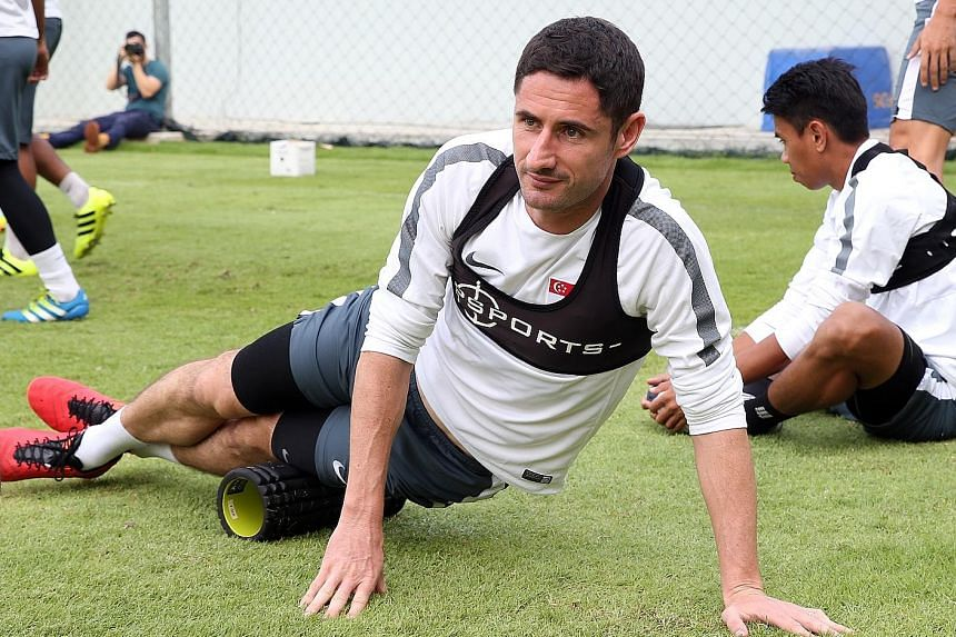 Centre-back Daniel Bennett, 39, is Singapore's most experienced player with a record 138 caps and remains key to coach V. Sundram Moorthy's plans.