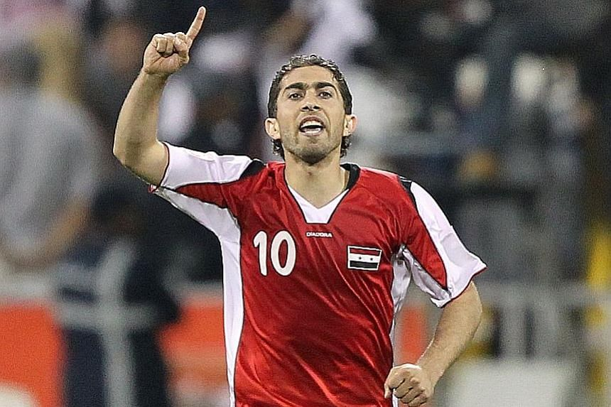 Syria forward Firas al-Khatib announced in July 2012 that he would not don the national team's colours until the guns fell silent. But the 34-year-old ended a six-year exile to help Syria stand four games away from Russia 2018.