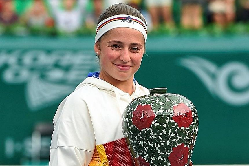 Latvia's Jelena Ostapenko has had a season to remember. She won the French Open in June and claimed her second WTA singles title in Seoul last month.