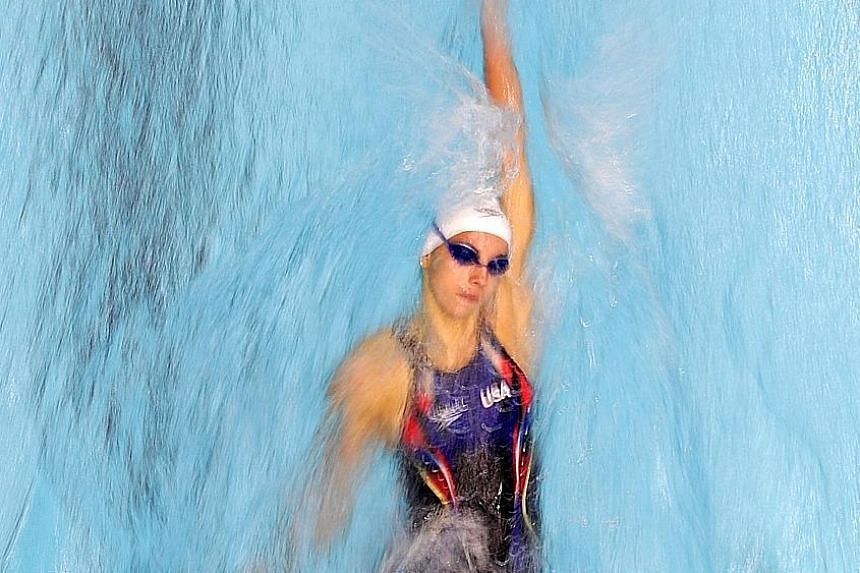 Regan Smith in the 200m backstroke heats at the World Junior Championships in August. The 15-year-old won both the 100m and 200m events in this discipline and was the youngest in the American squad at the World Championships in July.