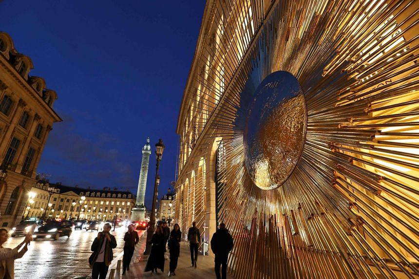 The newly opened Louis Vuitton flagship store off Place Vendome in Paris. Economic activity in France rose at the sharpest rate in more than six years, and Euro-area output last month was led by Germany.