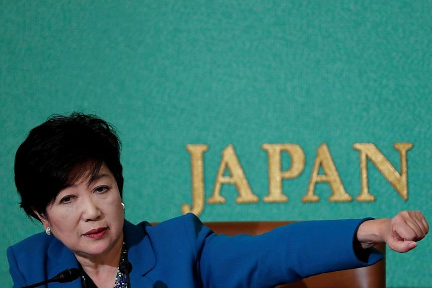 Tokyo Governor Yuriko Koike, head of Japan's Party of Hope, at the Japan National Press Club in Tokyo, Japan on Sept 28, 2017.