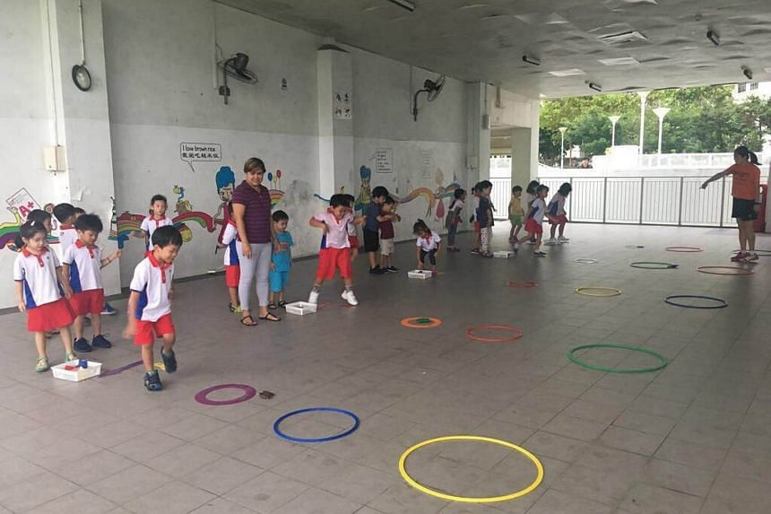 Interactive activities and games under the Nurture Kids programme are used to get pre-schoolers to stay active.