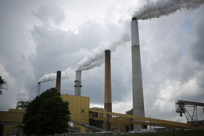 A coal-fired generating station in the US state of Kentucky in 2014.