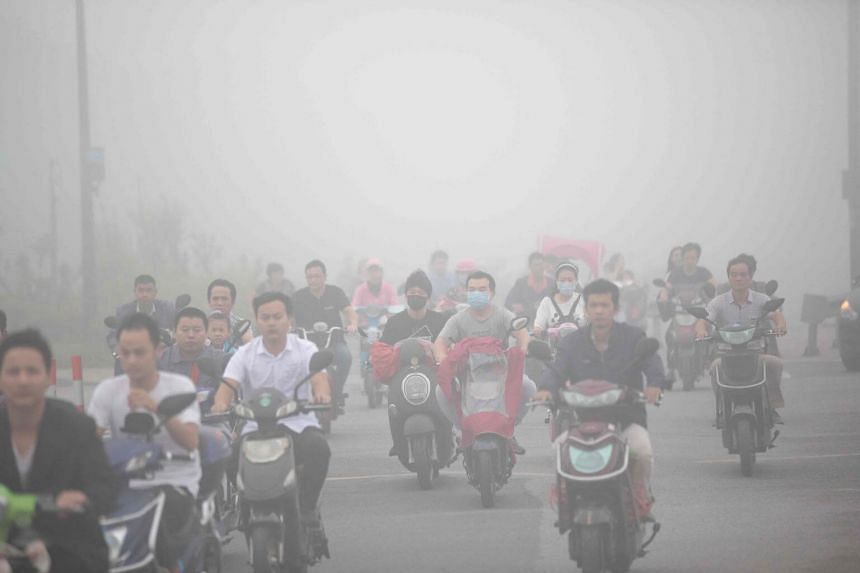 Air quality in China's 338 largest cities on average deteriorated in the first six months of 2017.