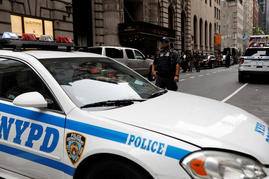 New York police are asking people to avoid a swathe of Manhattan from West 57th to West 59th Street and between 11th and 12th avenue.