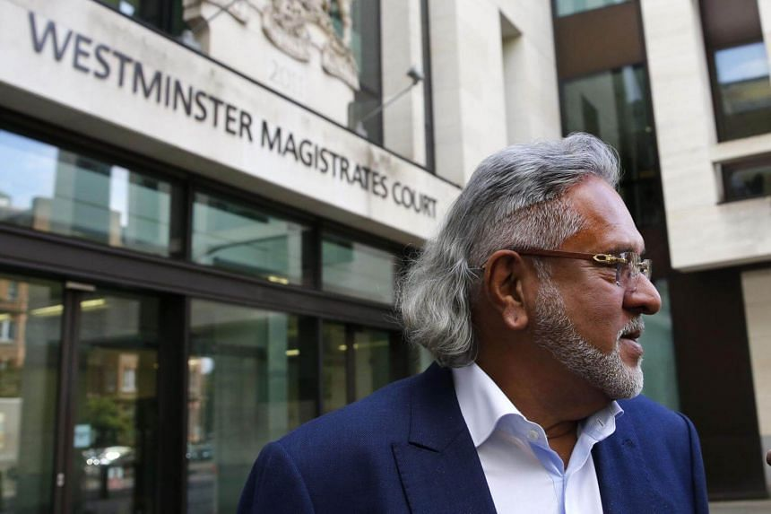 Indian tycoon Vijay Mallya leaves Westminster Magistrates' Court in central London on Oct 3, 2017.