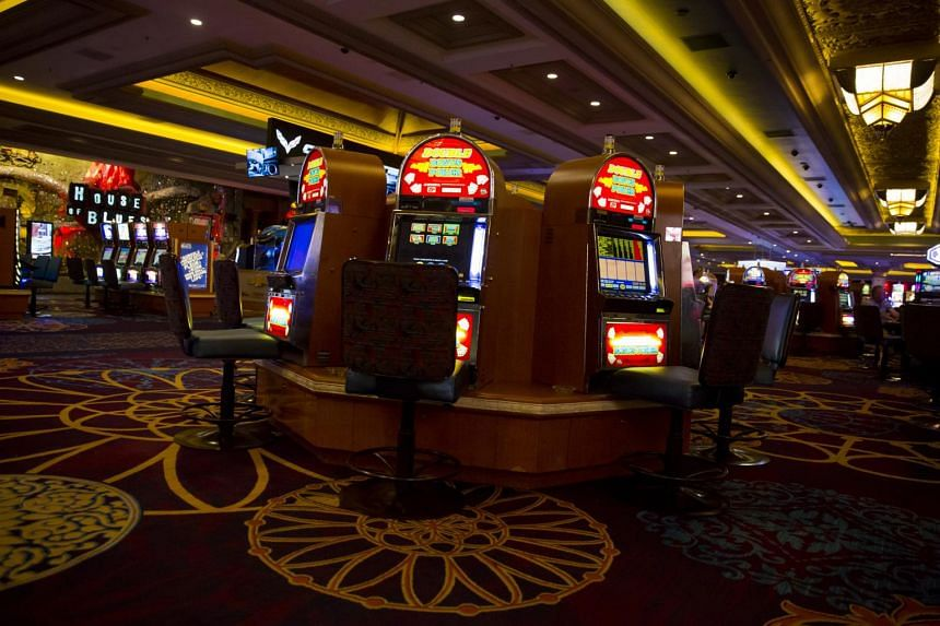 Video poker machines in the casino of the Mandalay Bay in Las Vegas, on Oct 3, 2017.