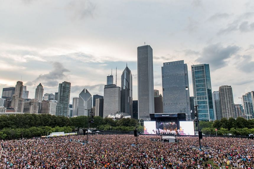 Paddock is said to have booked a Chicago hotel overlooking the Lollapalooza music festival (above) in August.