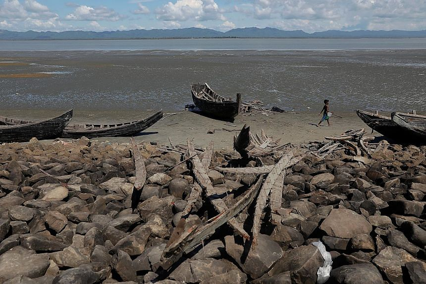 About 20 boats that ferried Rohingya were destroyed by the Bangladeshi authorities. According to refugees, border guards also beat and arrested passengers and crew as they landed at Shah Porir Dwip, on the southern tip of Bangladesh.