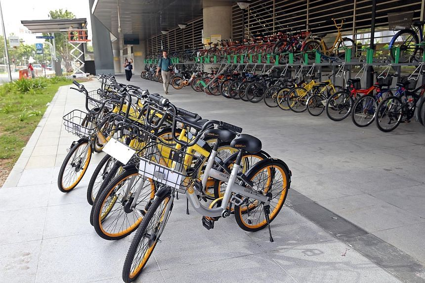 The agreement that bike-sharing firms signed will require their bikes to be parked within designated zones in Housing Board estates, parks and park connectors, and at MRT stations and bus stops.