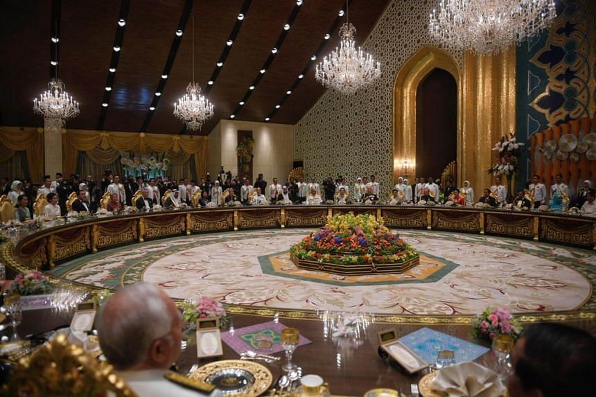 Sultan Hassanal Bolkiah sat at the head of the 44-seat table in the royal banquet hall, surrounded by fellow leaders and royals from all over the world.