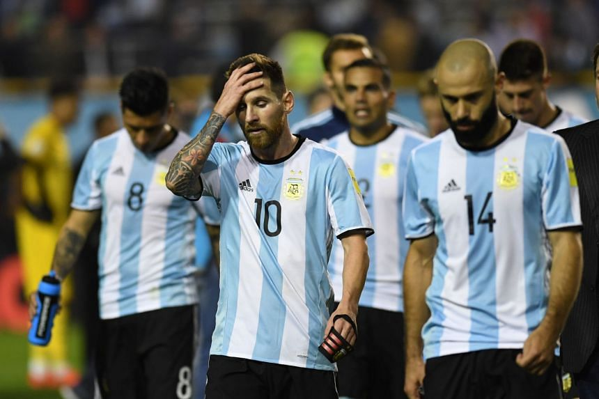 With one round of games remaining in South America's qualifying tournament, Argentina are outside the qualification places.
