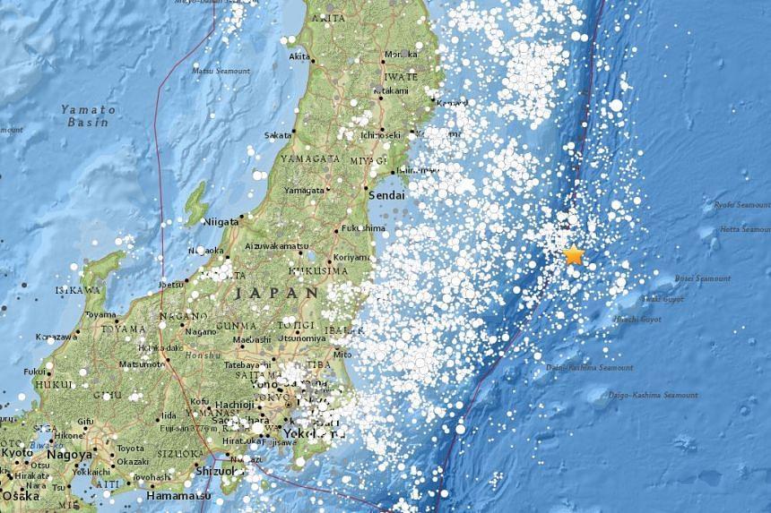 The quake struck 300 km east of Iwaki, Honshu.