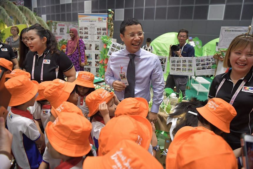 Minister for Social and Family Development Desmond Lee launched the Professional Development Programme for Leaders under which participants will go on a Government-funded overseas study trip to learn international best practices.
