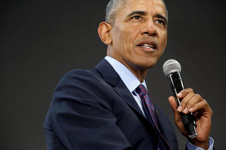 """Former US president Barack Obama's 23-minute keynote address in Sao Paulo, Brazil's financial capital, was titled """"Change the World? Yes, You Can"""", echoing his 2008 campaign slogan, """"Yes, we can""""."""