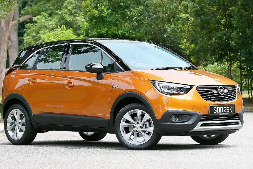 The Crossland X is stylish looking with interesting lines and a two-tone paintwork.