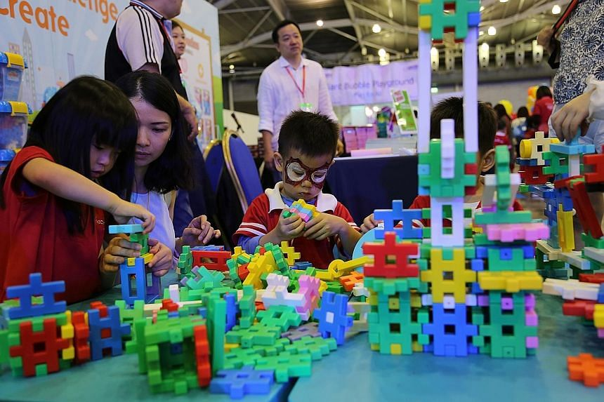 "What better way to celebrate the Children's Day weekend than take pony rides and navigate an inflatable obstacle course? People can do all these and more at the inaugural ""I'm Proud Of You"" family festival at the Singapore Expo. The event was attende"