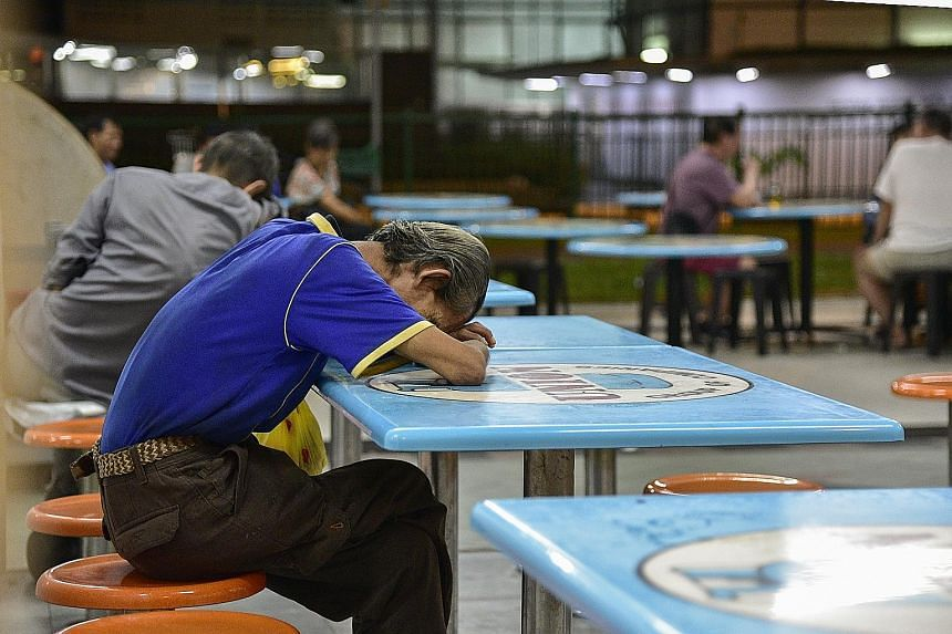 In Chinatown, coffee shops that open 24 hours and staircases are some of the places where people can be found sleeping. Of the 180 people found sleeping outdoors by volunteers over a five-hour period in March, 21 had been sleeping outdoors for more t