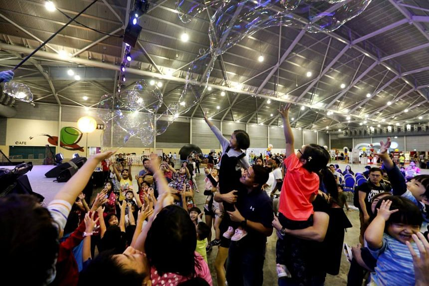 """The inaugural """"I'm Proud Of You"""" family festival, which kicked off at Singapore Expo, Max Atria Gallery and Hall 1 on Saturday (Oct 7) aims to give parents the opportunity to spend quality time with their kids."""