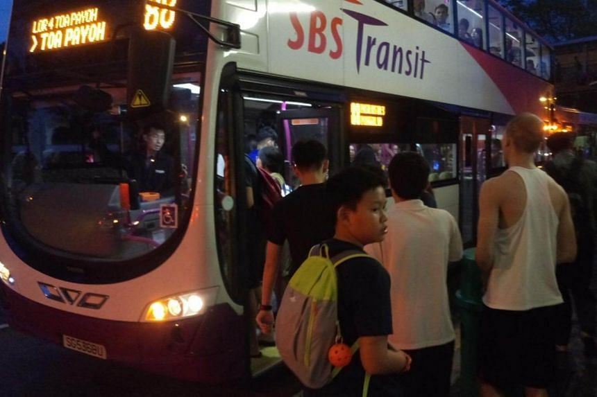 Free shuttle buses were provided at Junction 8 after the train disruption on Oct 7, 2017.