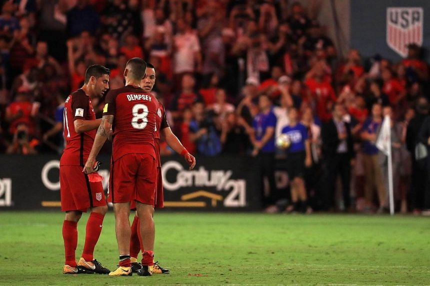 Clint Dempsey celebrates winning a 2018 FIFA World Cup Qualifying match against Panama at Orlando City Stadium on Oct 6, 2017 in Orlando, Florida.