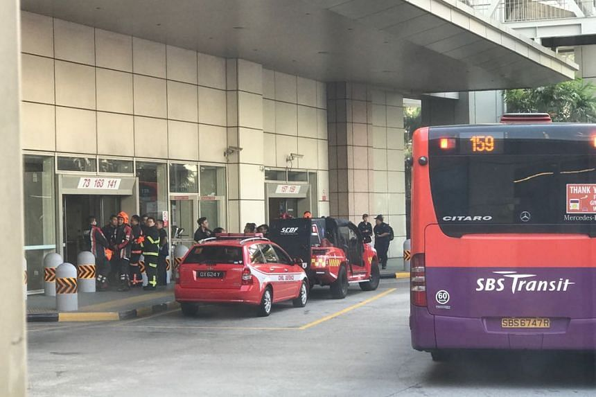 The Singapore Civil Defence Force said it was alerted to an incident involving 'white smoke' at Toa Payoh MRT station at 9.22am on Oct 7, 2017. MRT and bus services were not affected.