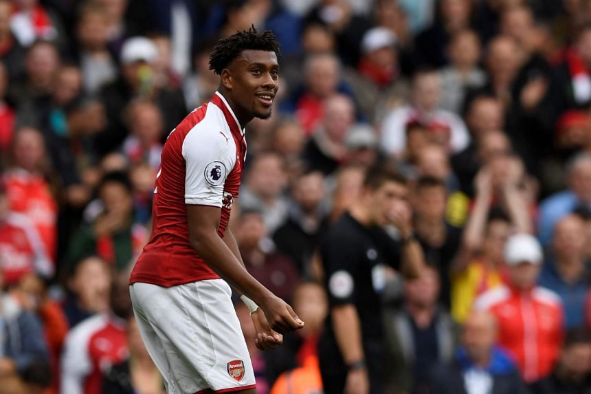 Alex Iwobi (above, playing for Arsenal) scored the winner in the second half.