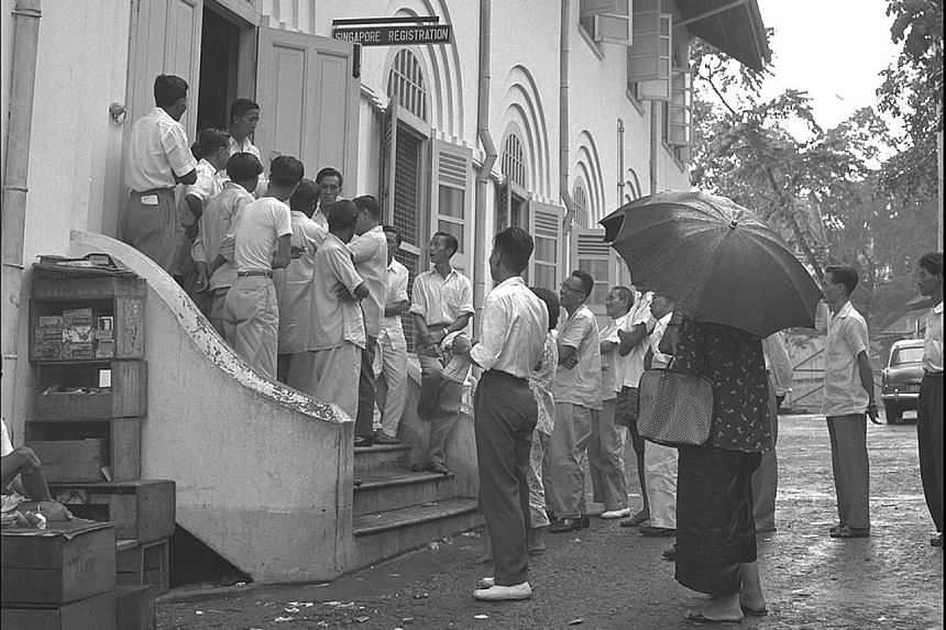 Queues were common when registration began under the 1957 ordinance. More than 320,000 mostly foreign-born residents in Singapore registered as citizens when Operation Franchise ended in January 1958. A ceremony held for new Singapore citizens at The
