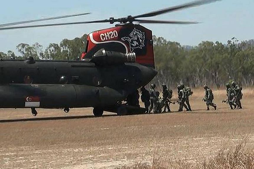 This year's Exercise Wallaby involves some 4,000 SAF personnel and 400 platforms, including the Apache helicopter, in three phases.