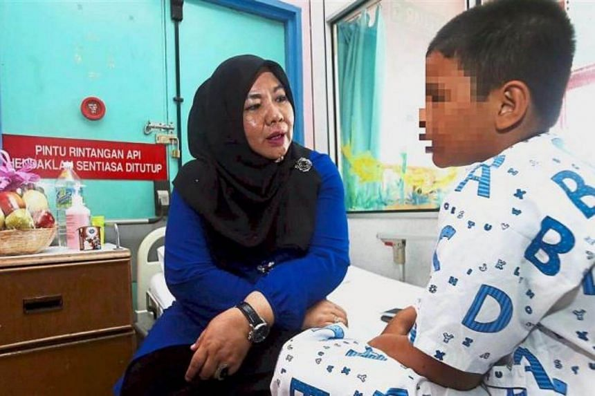 The 10-year-old Malaysian boy who was found chained by his neck to a gas tank said it was his fault for coming home late from a cybercafe.